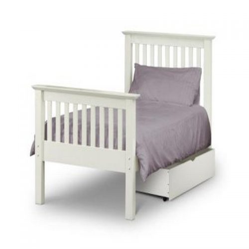 Barcelona White Wooden Bed Frame High Foot From Julian Bowen | Cheap Wooden Beds