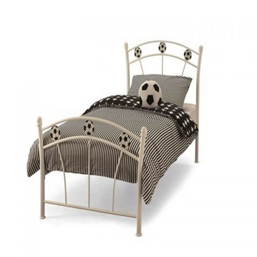 Soccer Metal Bed Frame from Serene | Cheap Kids Beds