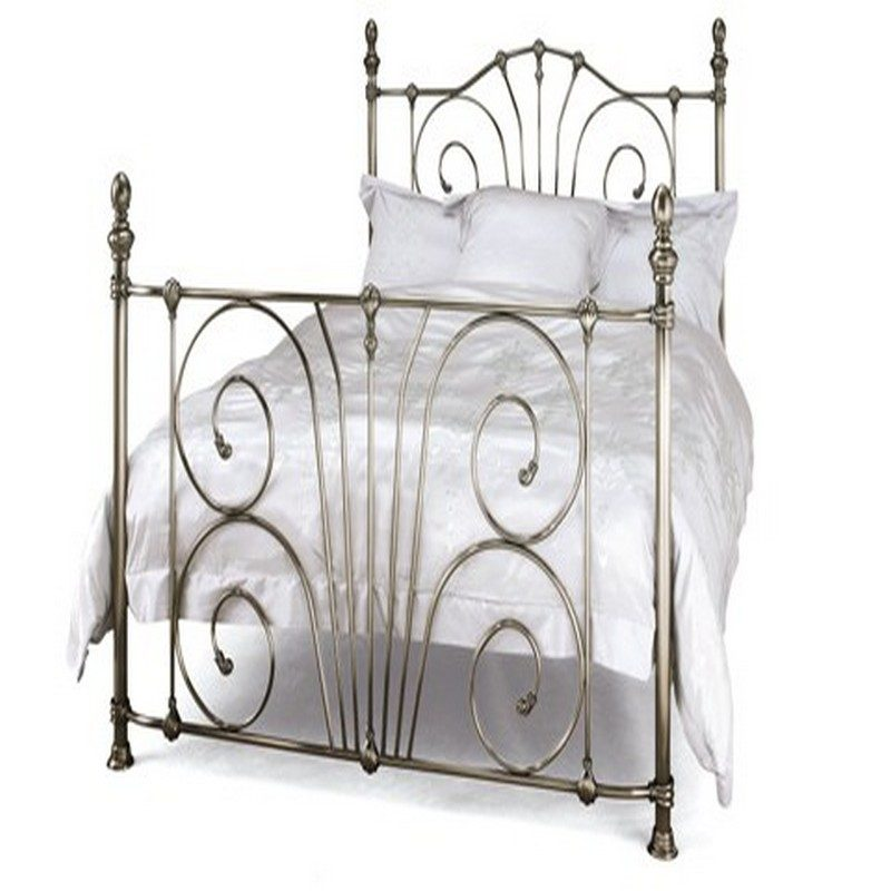 Antique Nickel Jessica Metal Bed from Serene - Bishops Beds