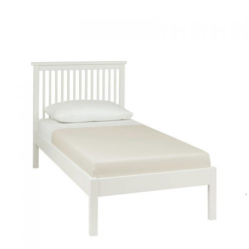 Bentley Designs Atlanta White Wooden Bed Frame Low Foot End