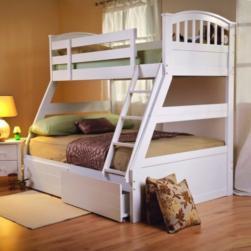 White ApolloTriple Sleeper from Sweet Dreams | Bunk Beds | Kids Beds