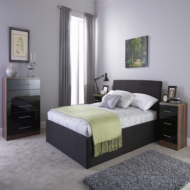 Ascot Ottoman Bedstead |Ascot Ottoman Storage Bed Black | Beds with Storage