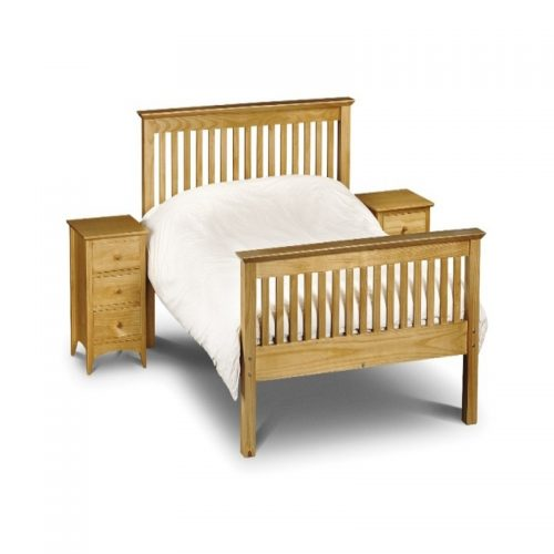 Barcelona Pine Wooden Bed Frame High Foot From Julian Bowen | Cheap Wooden Beds