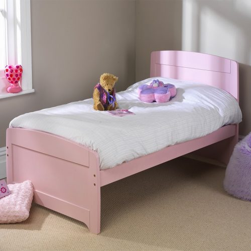 Friendship Mill Rainbow Pink Wooden Bed Frame