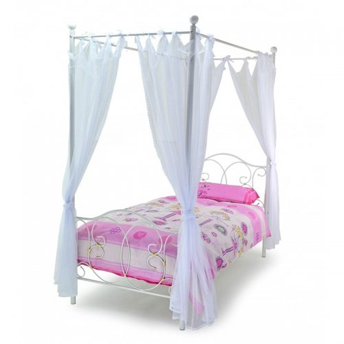 Ballet 4 Poster Bed With Drapes From Metal Beds Ltd