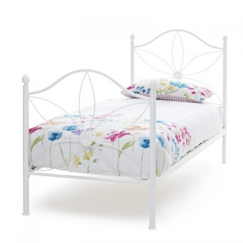 Serene Daisy Metal Bed