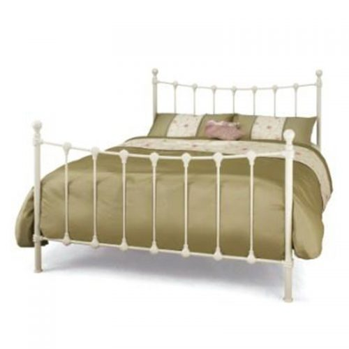 Ivory Marseilles Metal Bed from Serene