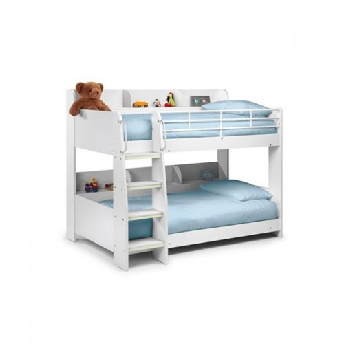Domino White Bunk Bed From Julian Bowen | Kids Beds | Childrens Beds