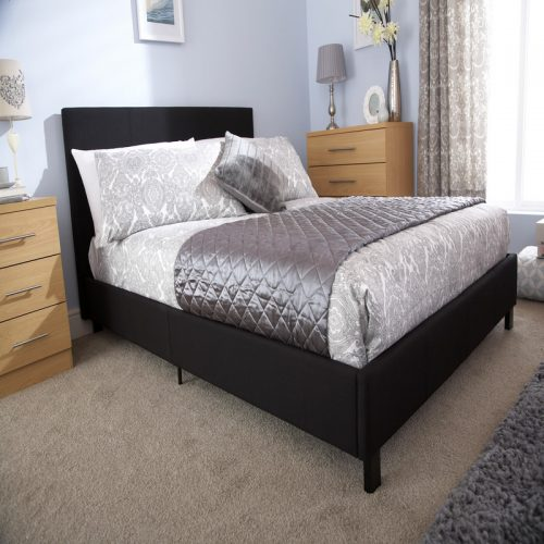 Bed in a Box Fabric Bedstead Black | Bishops Beds | Bed Frame