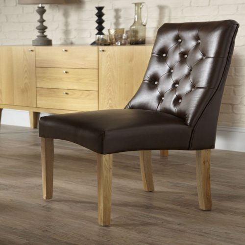 Bexley Oval Fulham Bonded Leather Chair | Dining Chairs | Bishops Beds