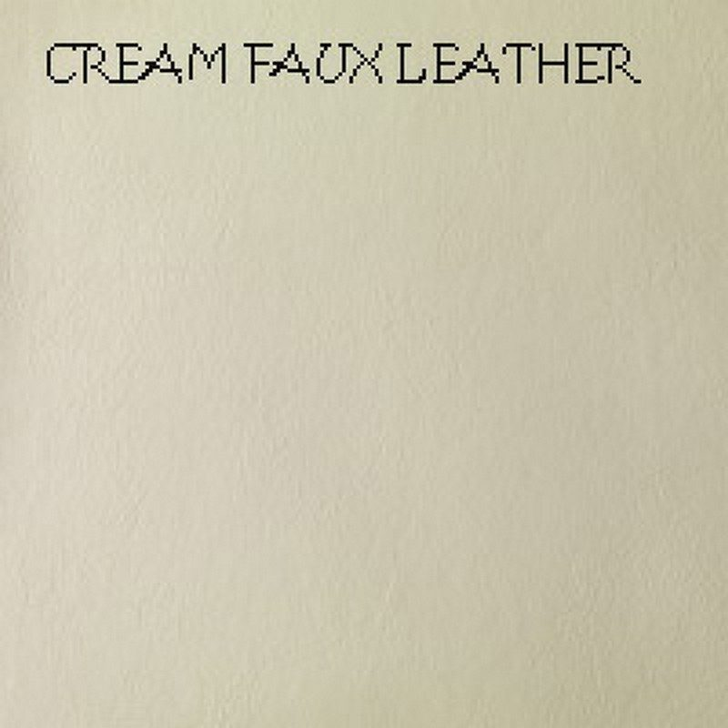 Cream Faux Leather Amber Bed Base