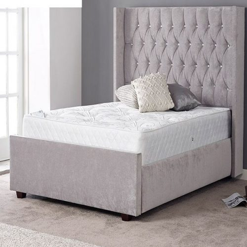 Gabrielle Diamante Upholstered Bed Frame | Bishops Beds