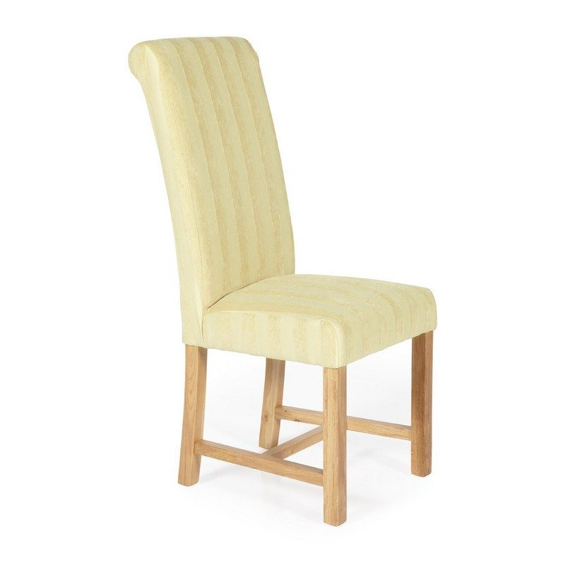 Greenwich Stripe Oatmeal Chairs | Dining Chairs | Bishops Beds