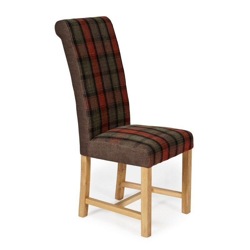 Greenwich Tartan Brown Chair | Dining Chairs | Bishops Beds