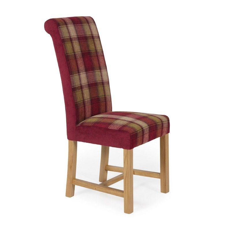 Greenwich Tartan Red Chair | Dining Chairs | Bishops Beds