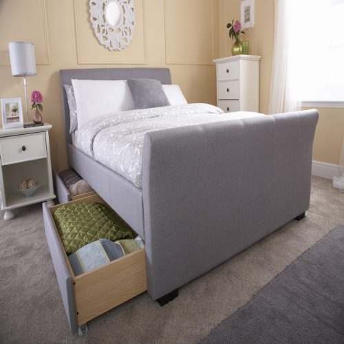 Hannover Grey Storage Bed | Upholstered Bed | Beds with Free Delivery