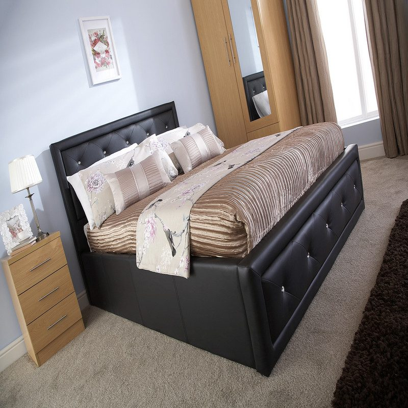 Hollywood Black Ottoman Bed | Storage Bed | Bed with Storage