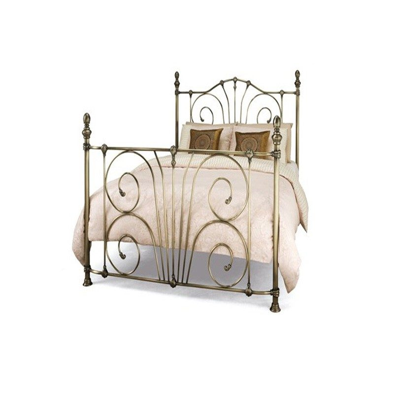 Bishops Beds - Antique Brass Jessica Metal Bed from Serene