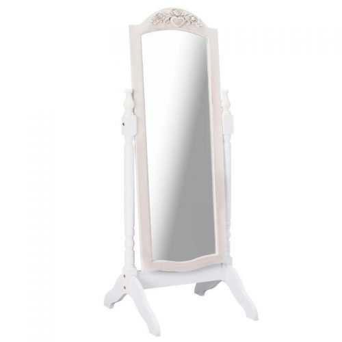 Juliette Soft White Cheval Mirror | Bedroom Furniture | Bishops Beds