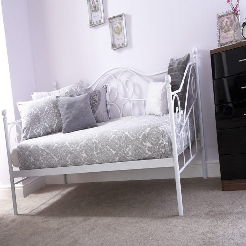 Madison White Sofa Bed     Day Beds   Guest Beds