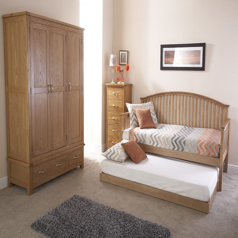 Madrid Oak Half Trundle | Guest Beds