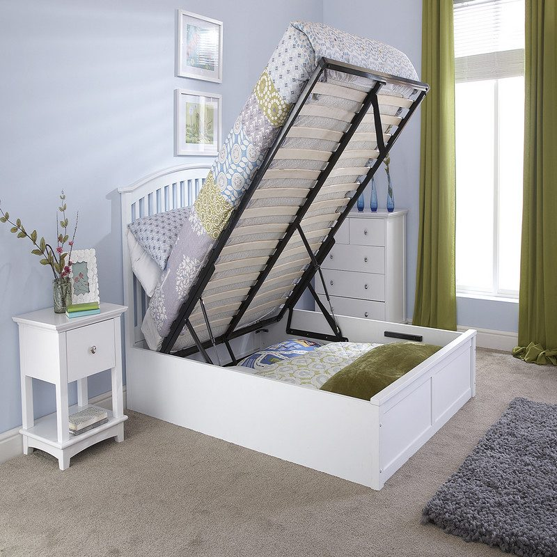 Madrid Ottoman White Storage Beds | Beds with Storage