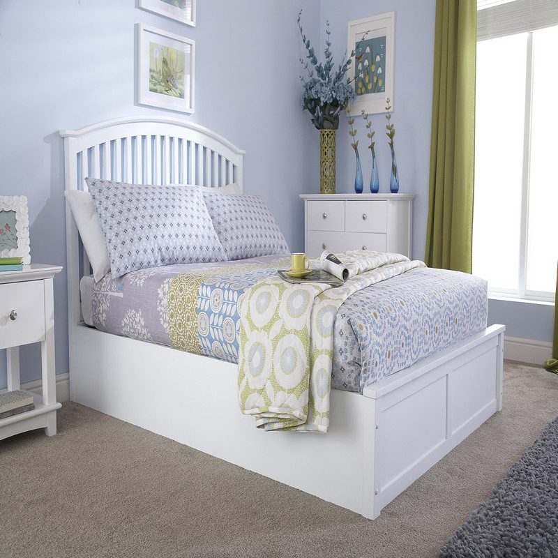 Madrid Ottoman Bed White | Storage Beds | Beds with Storage