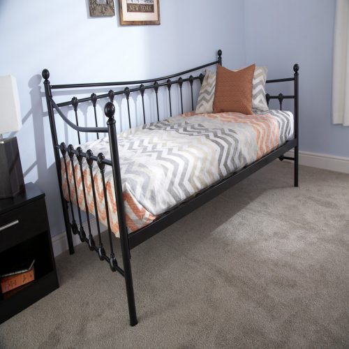 Memphis Metal Day Bed Black | Guest Beds