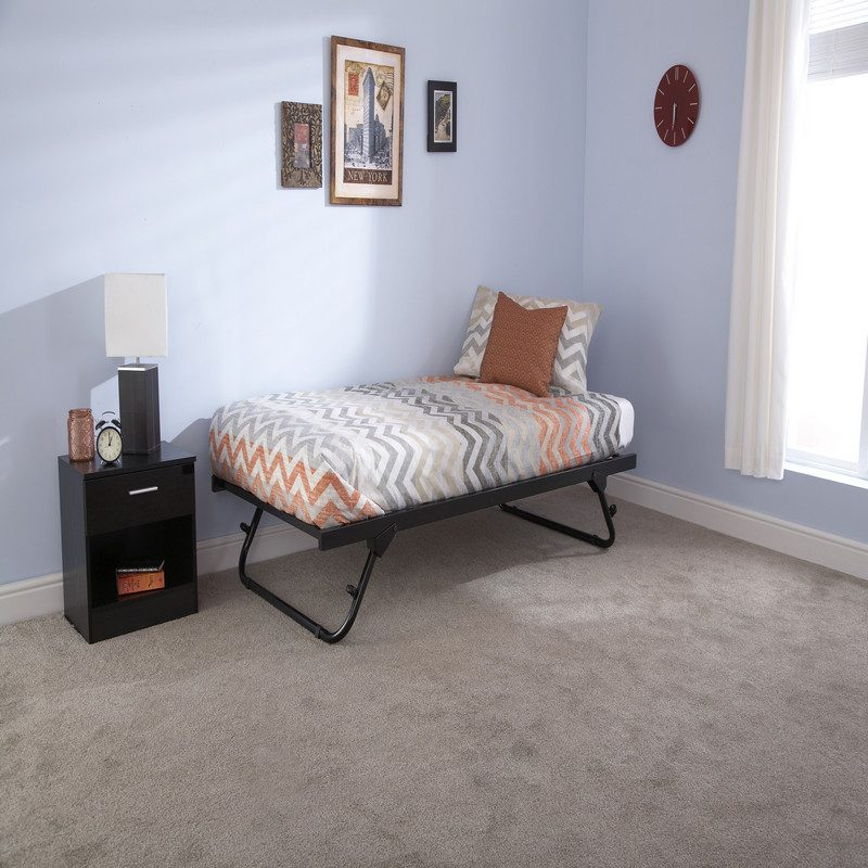 Memphis Day Bed Black Trundle | Guest Beds