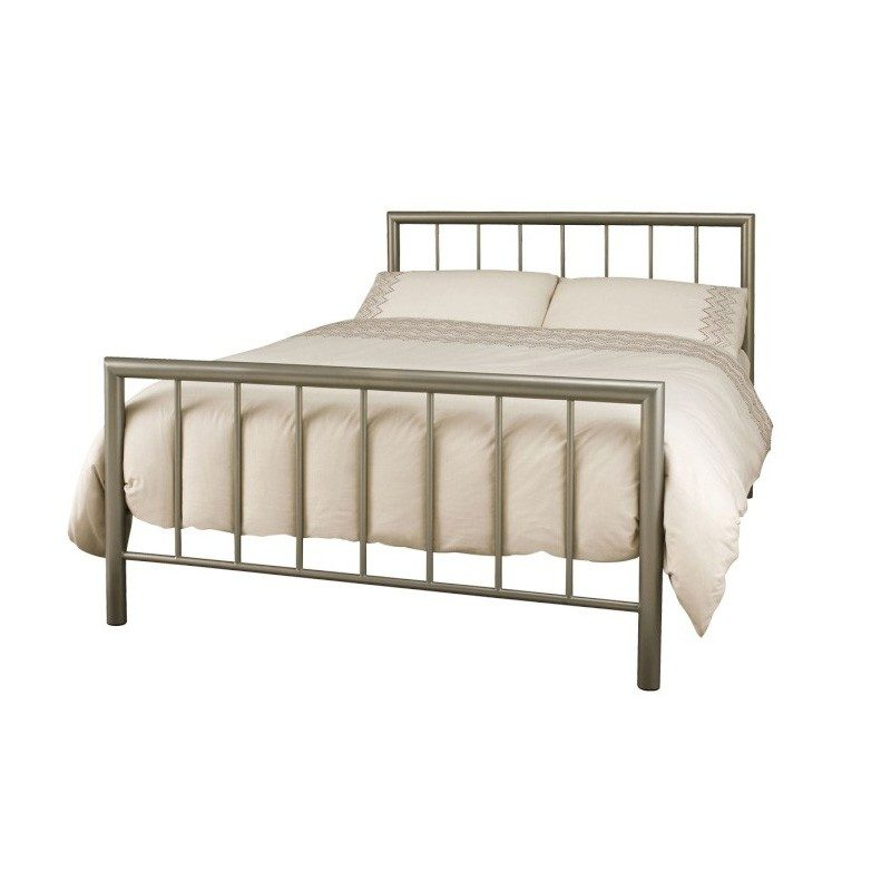 Serene Champagne Modena Metal Bed | Cheap Beds