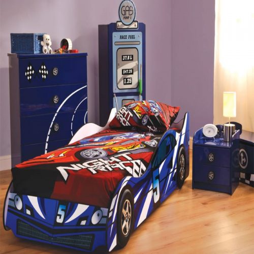 Night Racer Blue Car Bed | Boys Beds | Toddler Beds