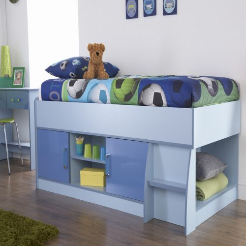 Ottawa-2Tones Low Cabin Bed Blue | Kids Beds | High Sleeper