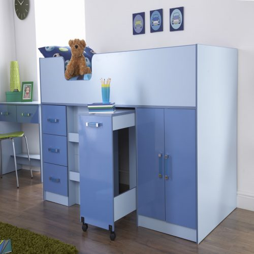 Ottawa Blue Cabin Bed | Kids Beds | High Sleeper