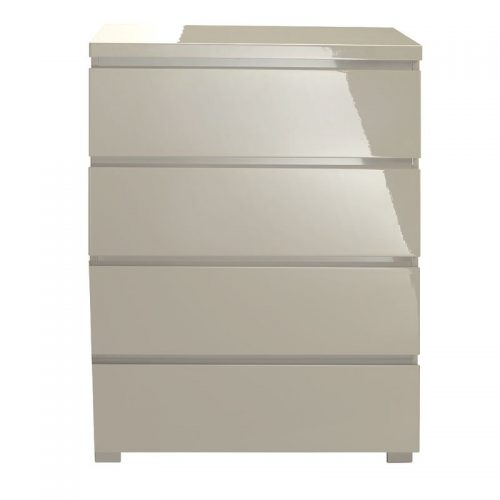 LPD Furniture Puro High Gloss 4 Drawer Chest | Bishops Beds