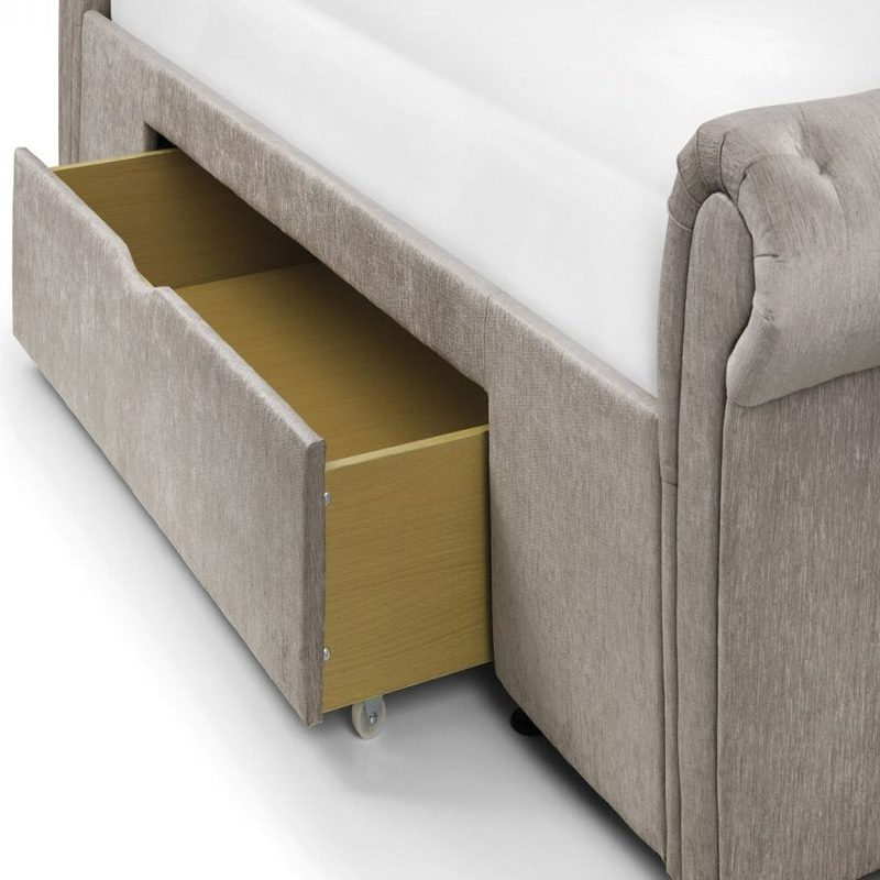 Julian Bowen Upholstered Ravello Bed with 2 Drawers | Bishops Beds