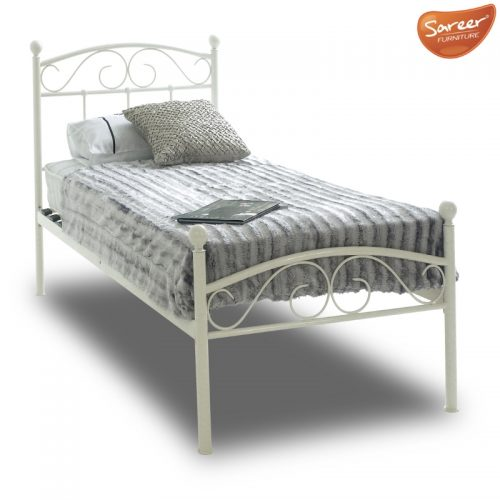 Sareer Devon White Metal Bed Frame | Metal Beds | Cheap Beds Peterlee