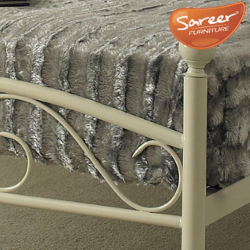 Sareer Devon White Metal Bed Frame | Metal Beds | Cheap Beds