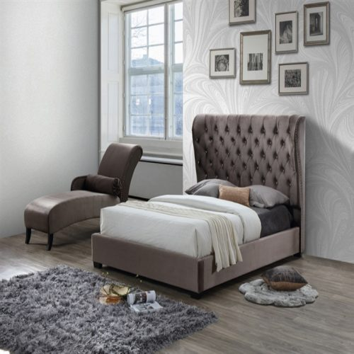 Sareer Infinity Upholstered Bed frame | Bishops Beds | Slatted Base | Upholstered Bed Base