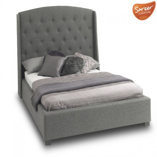 Sareer Signature Upholstered Bed Frame Grey | Bishops Beds Peterlee
