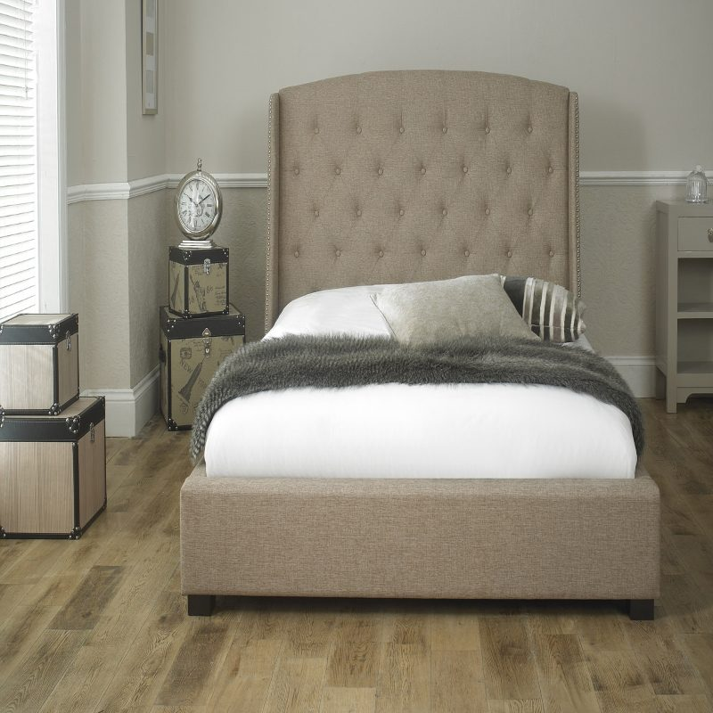 Sareer Signature Upholstered Bed frame Beige | Bishops Beds