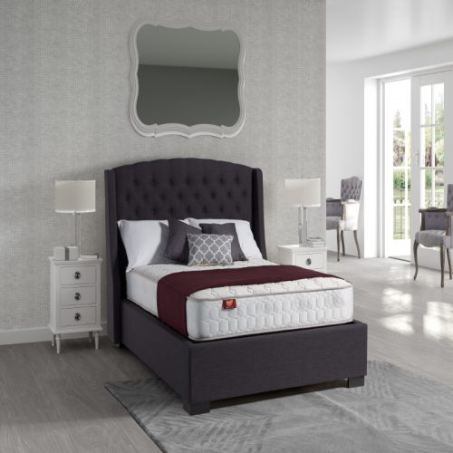 Sareer Sovereign Upholstered Ottoman Bed Frame | Bishops Beds | Storage Bed