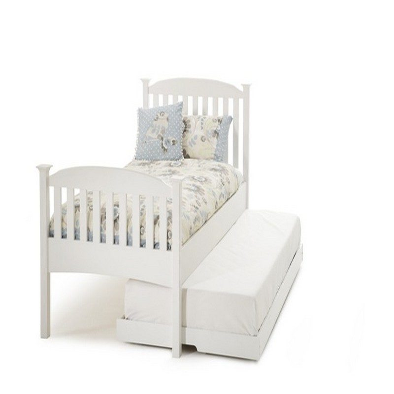 Serena Hevea White Wooden Guest Bed | Pullout Bed | Trundle