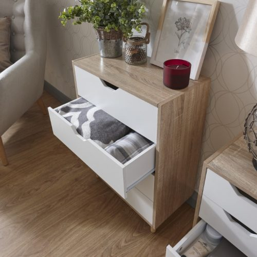 STOCKHOLM 4 Drawer Slim Chest | Bedroom Furniture | Bishops Beds