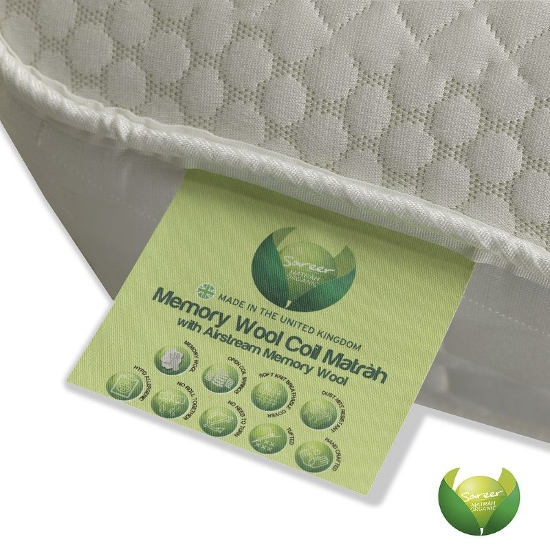 Sareer Memory Wool Coil Mattress | Luxury Mattresses | Affordable Mattresses Peterlee