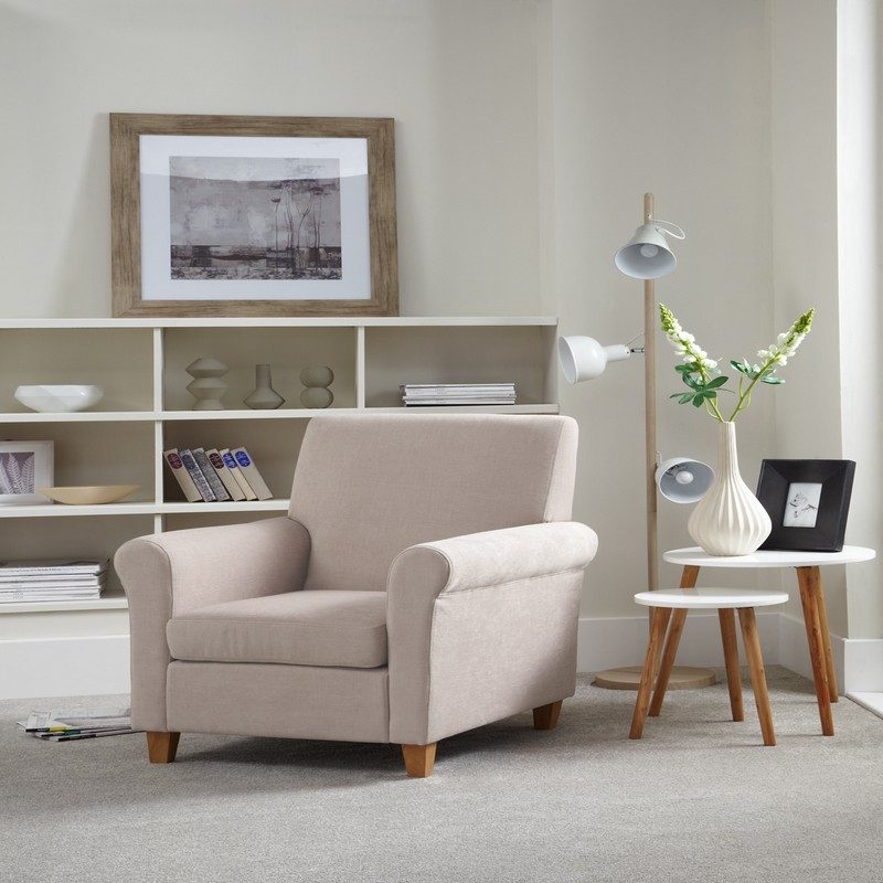 Thurso Mink Chair | Occasional Chairs | Armchairs