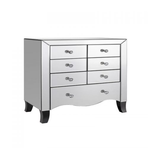 LPD Furniture Valentina Mirrored 7 Drawer Chest | Bishops Beds | Bedroom Furniture