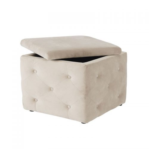 LPD Furniture Valentina Fabric Storage Box Beige | Bishops Beds | Bedroom Furniture