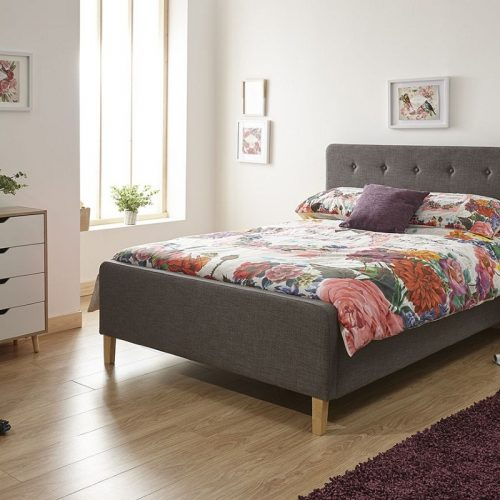 Ashbourne Ottoman Bed Dark Grey | Storage Beds | Beds with Storage