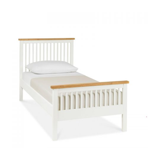 Bentley Designs Atlanta Two Tone Wooden Bed Frame High Foot End