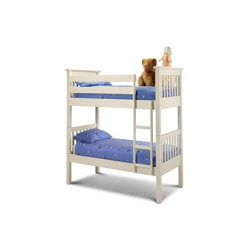 Barcelona White Bunk Bed From Julian Bowen   Bunk Beds   Childrens Beds